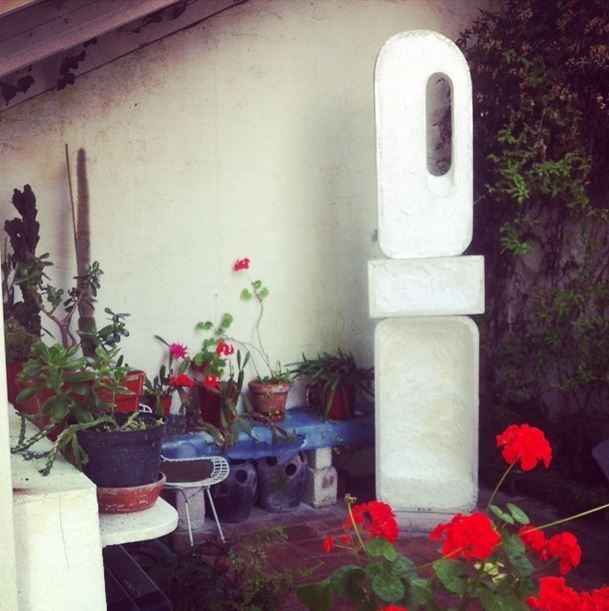 Barbara Hepworth's sculpture garden at Trewyn studio