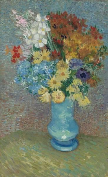 Flowers In A Blue Vase Krller Mller Museum