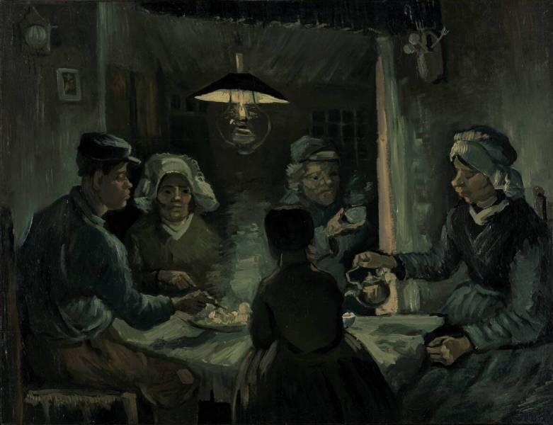 De aardappeleters kr ller m ller museum - Van gogh comedores de patatas ...
