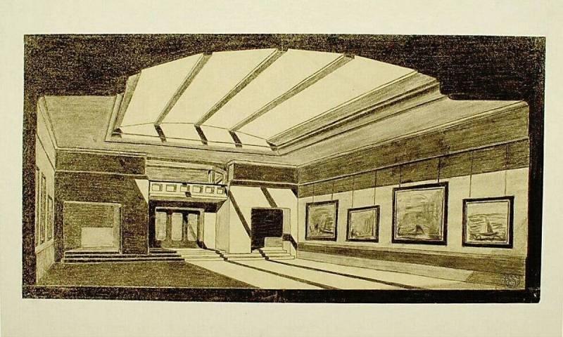 Ontwerp voor het museum bij de Franse berg, interieur – Kröller ...