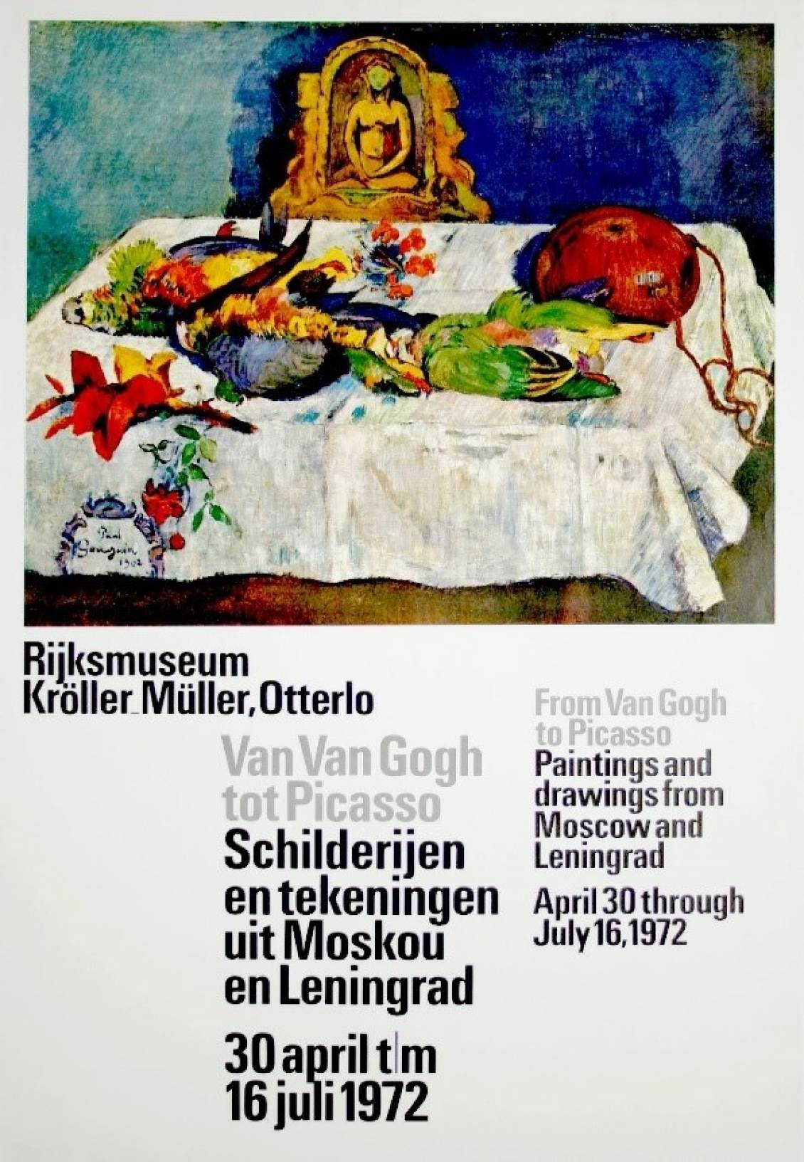 Poster From Van Gogh to Picasso, 1972