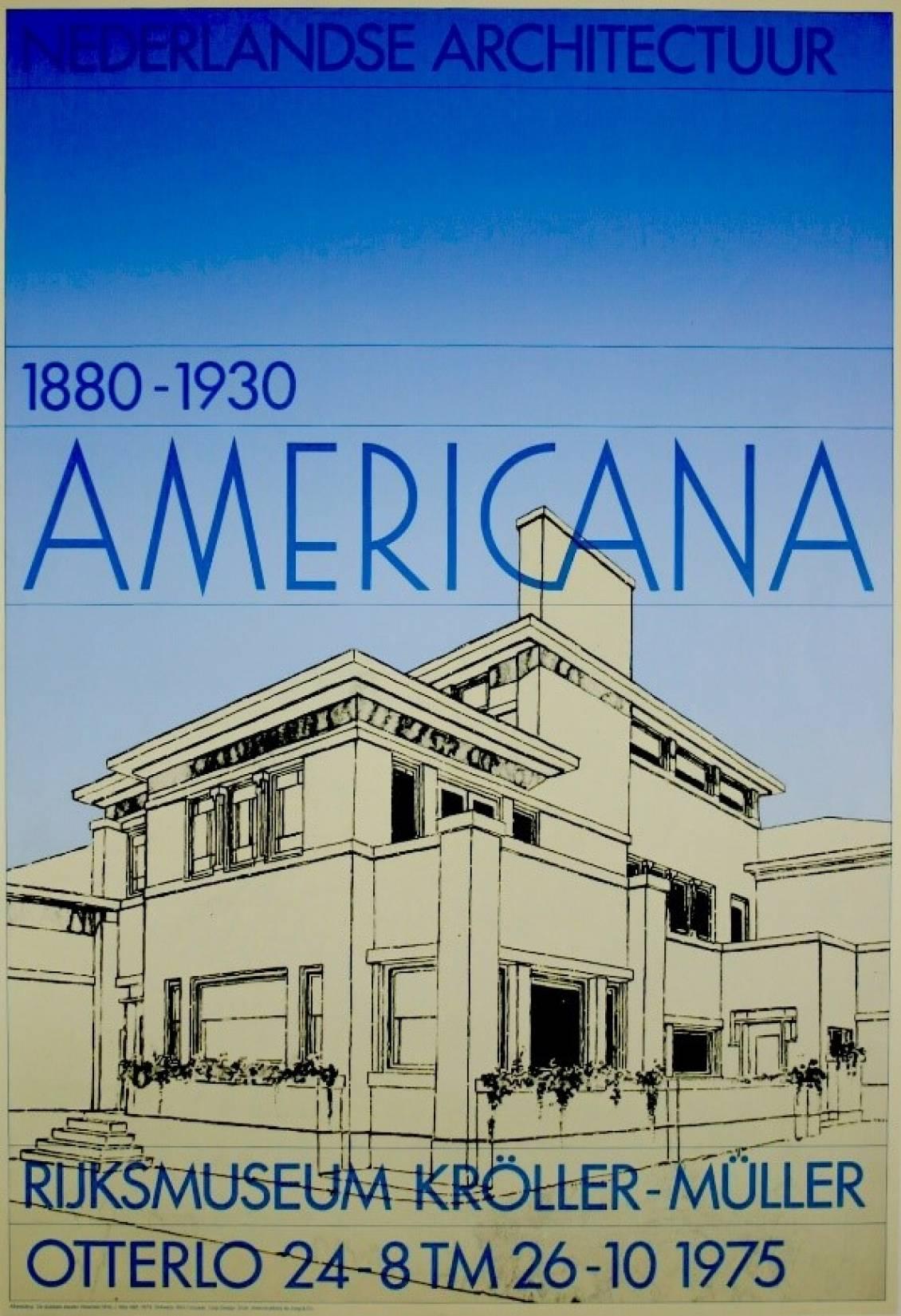 Affiche 'Americana' 1975