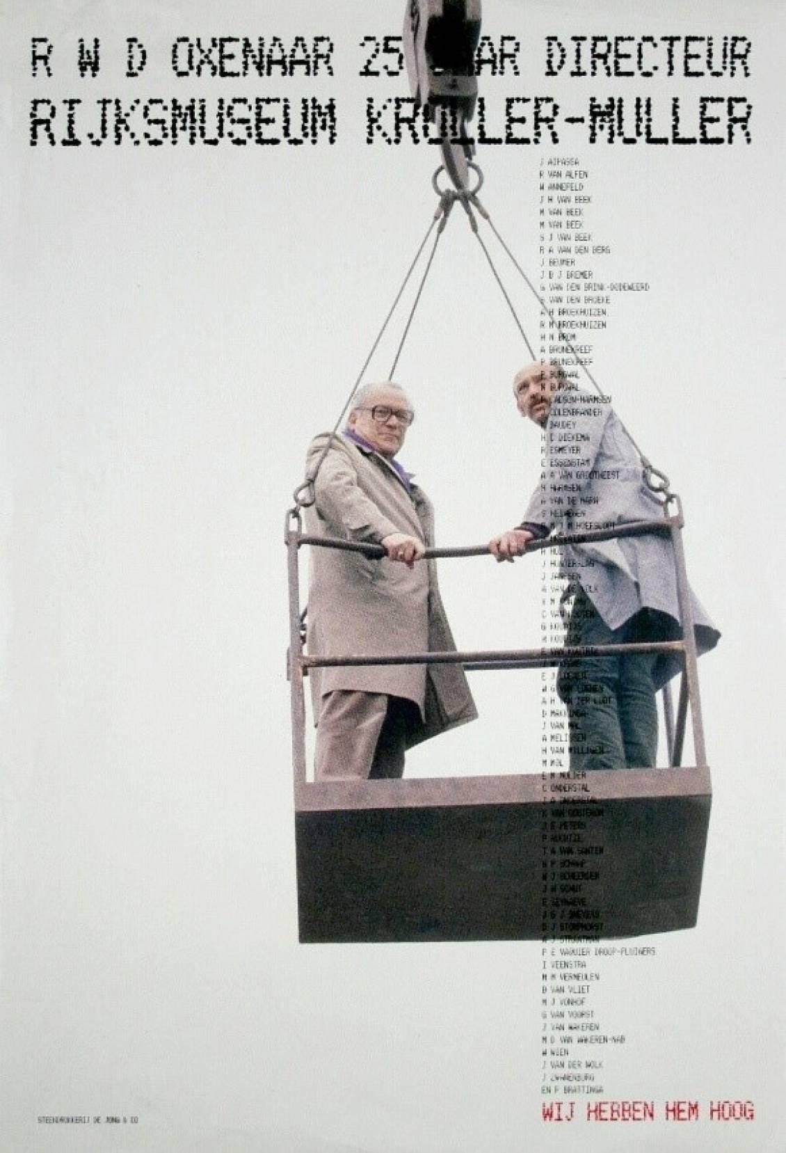 Oxenaar 25 years as director, 1988