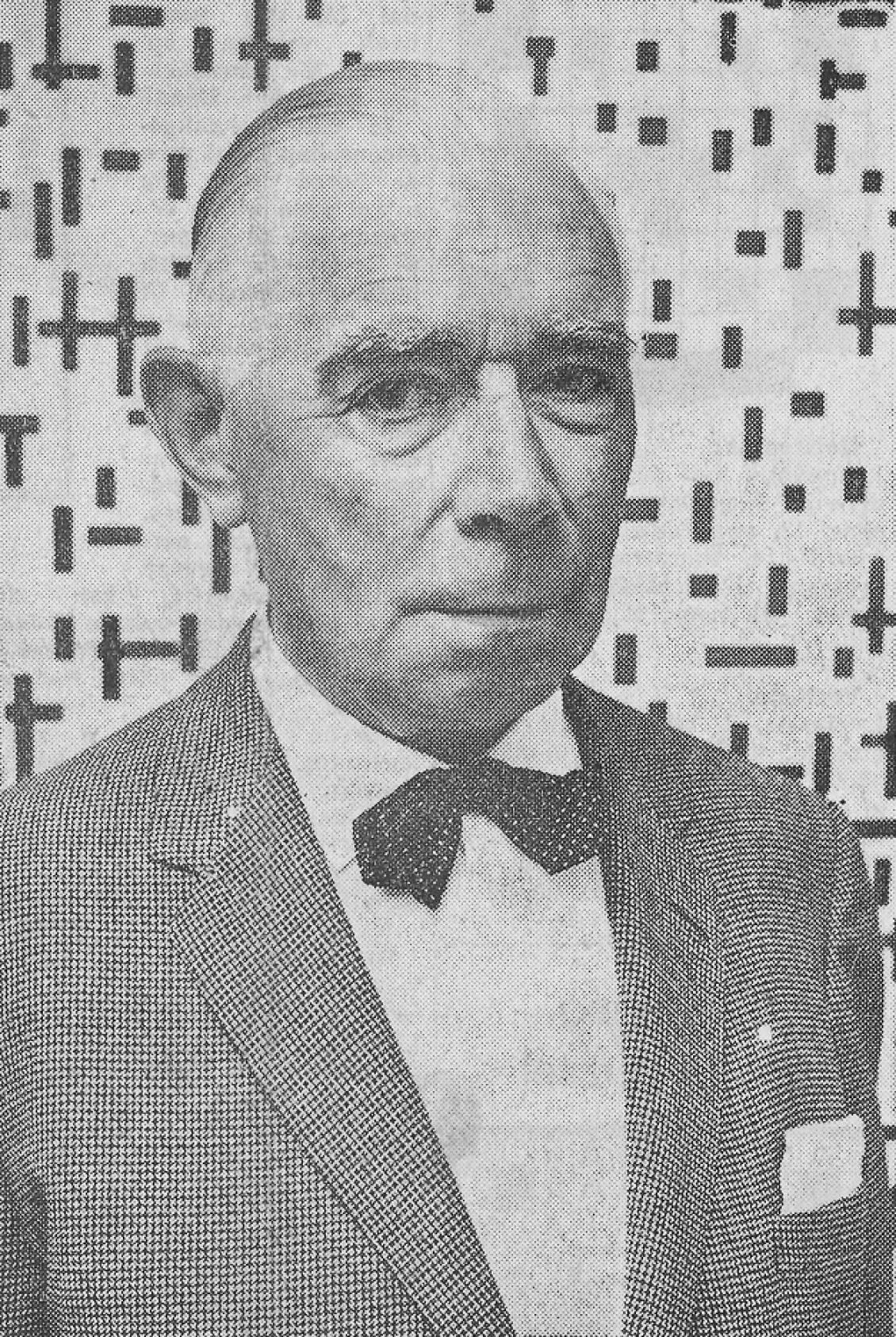 Hammacher in Rijksmuseum Kröller-Müller voor Compositie in lijn (1917) van Piet Mondriaan, 1962