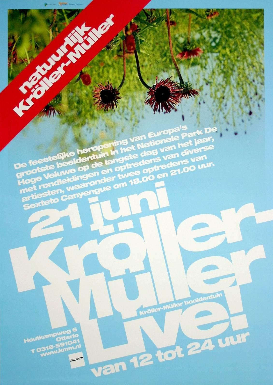 Affiche Kröller-Müller Live!, 2002