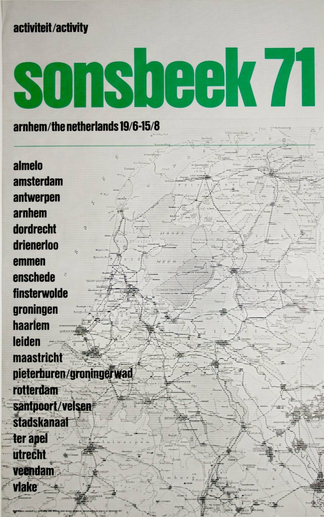 Poster 'Sonsbeek 71'