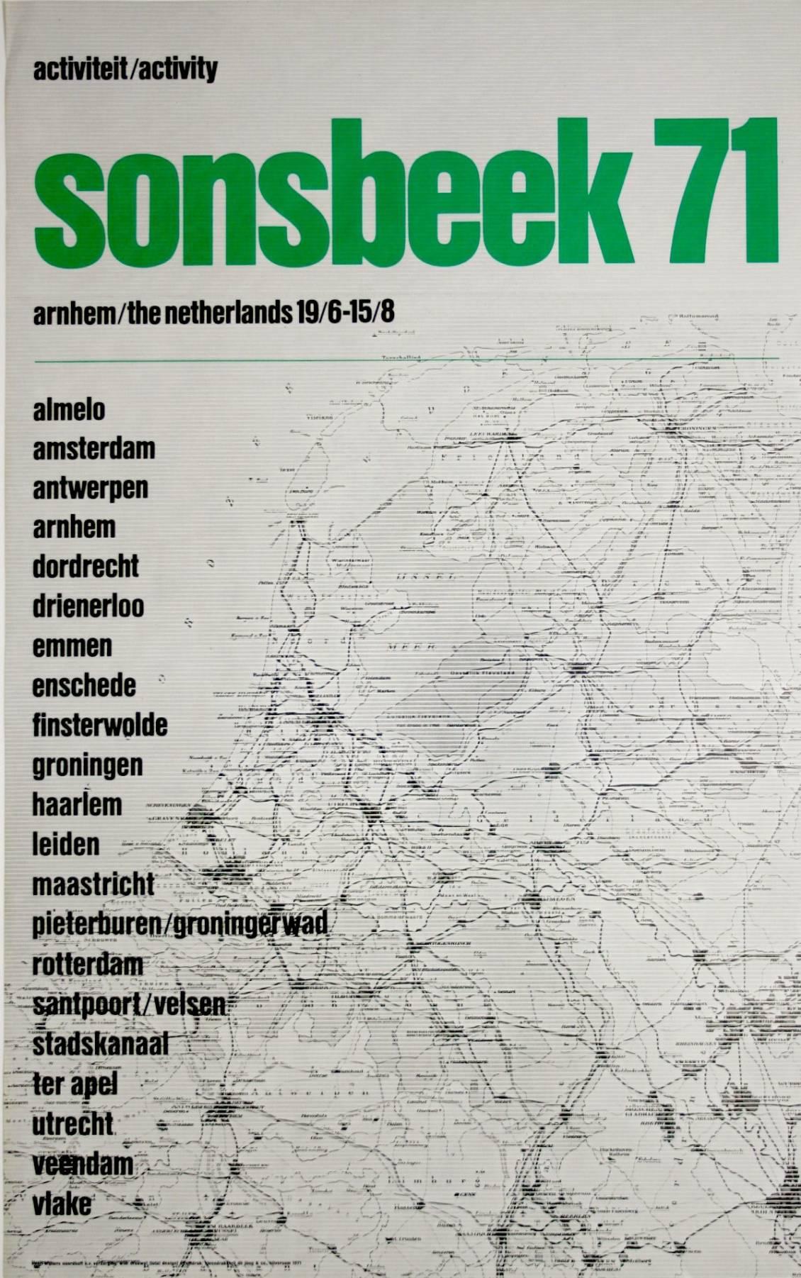 Affiche 'Sonsbeek 71'