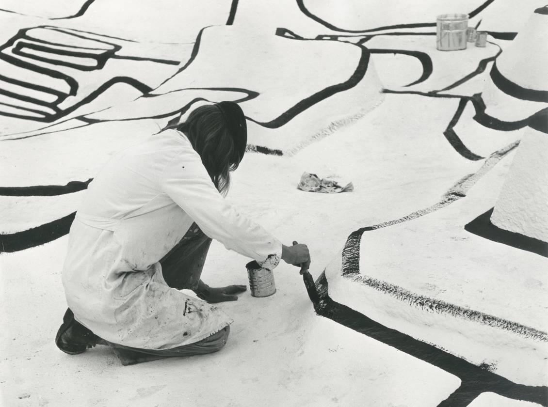 Bouw van Jean Dubuffet' Jardin d'émail, 1974