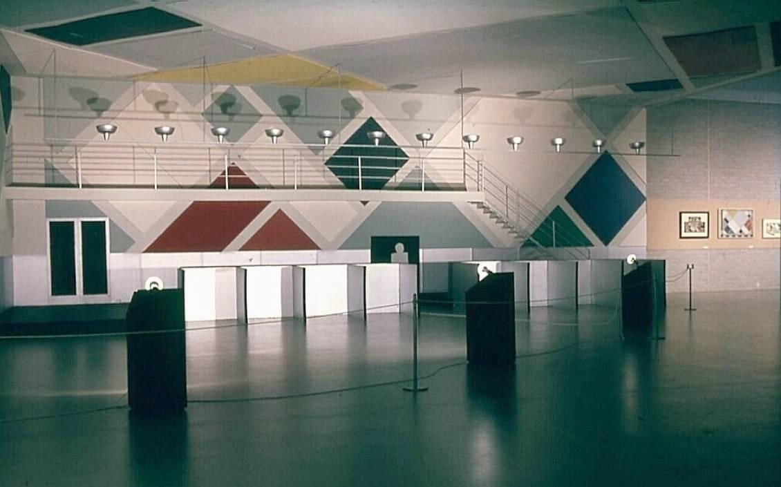Reconstructie van de Ciné-Dancing in de Aubette te Straatsburg van Theo van Doesburg uit 1927