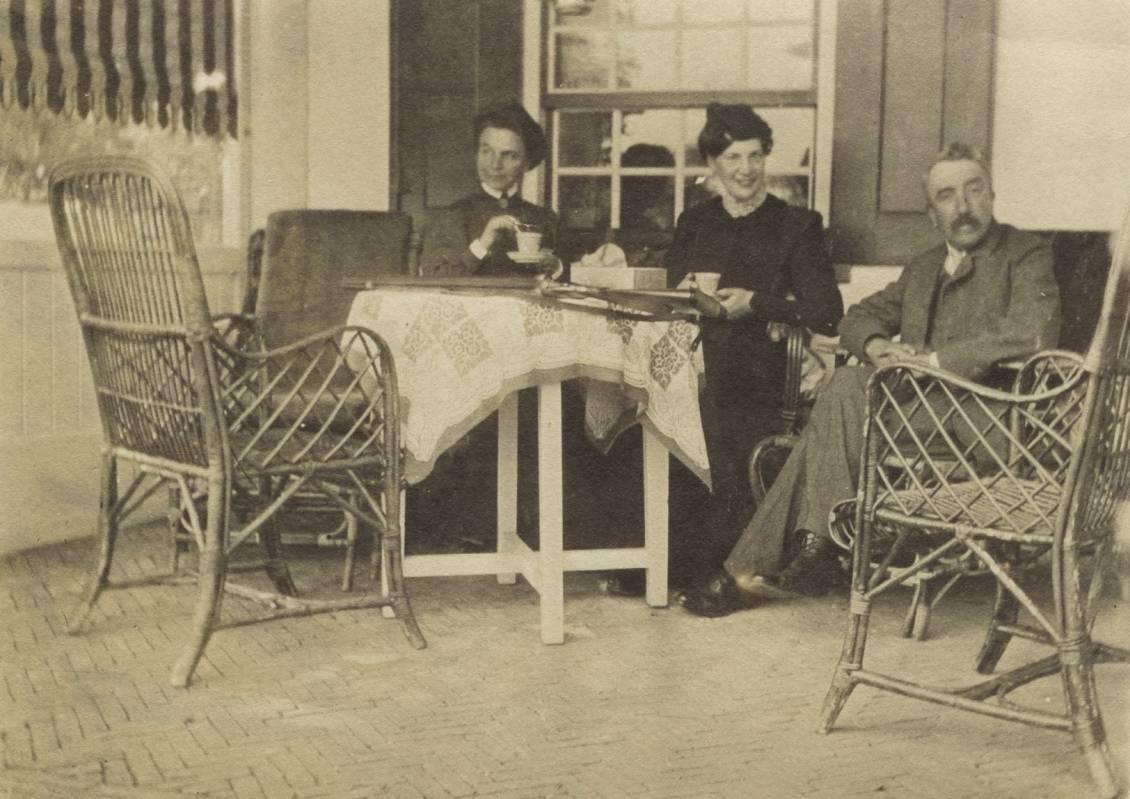 Helene met Floris Verster bij Het Klaverbald