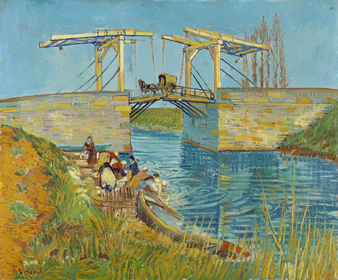Vincent van Gogh, Brug te Arles (Pont de Langlois), midden maart 1888
