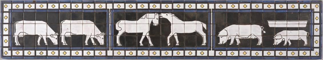 Bart van der Leck, Tegelversiering voor boerderij 'De Schipborg' in Anloo, 1915-1916