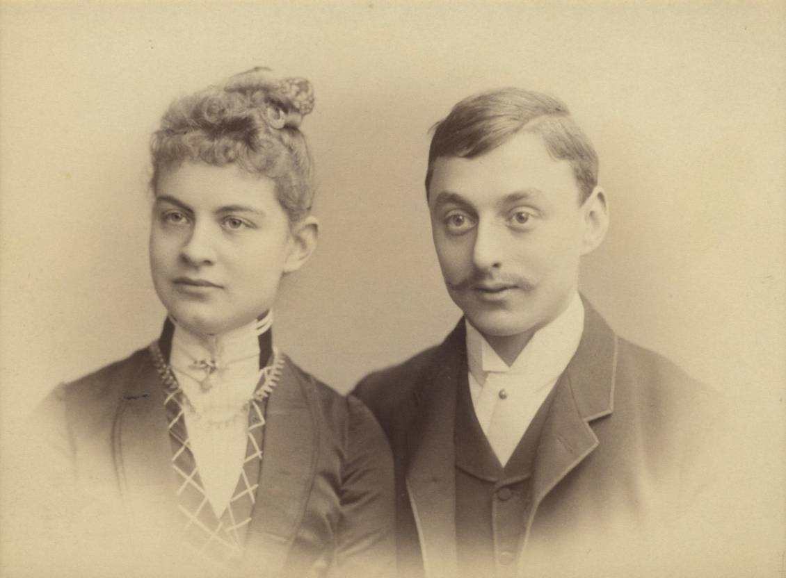 Helene en Anton at the time of their engagement, 1887-1888