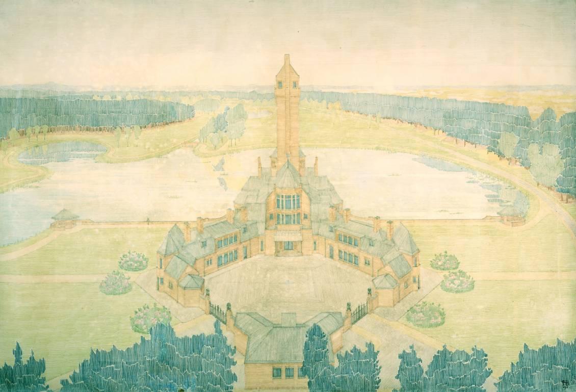 H.P. Berlage, Ontwerp voor Jachthuis Sint Hubertus, 1916
