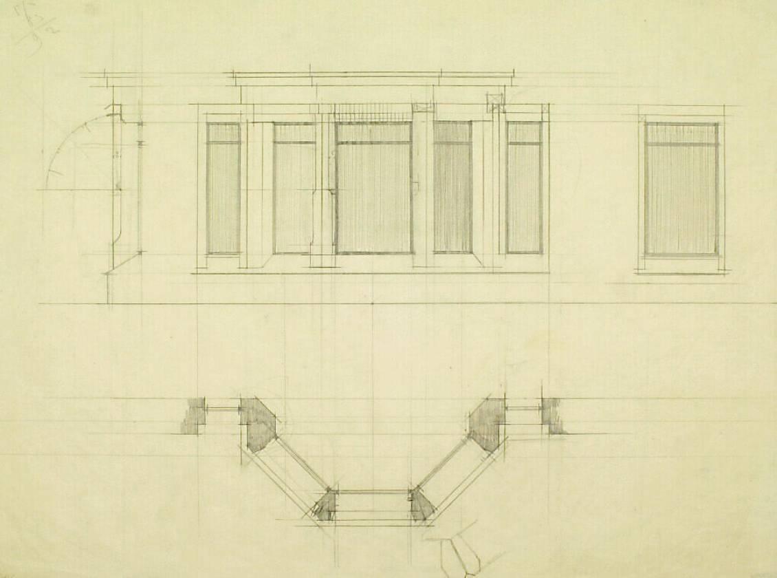 H.P. Berlage, Bay window in the sitting room of madam Kröller-Müller