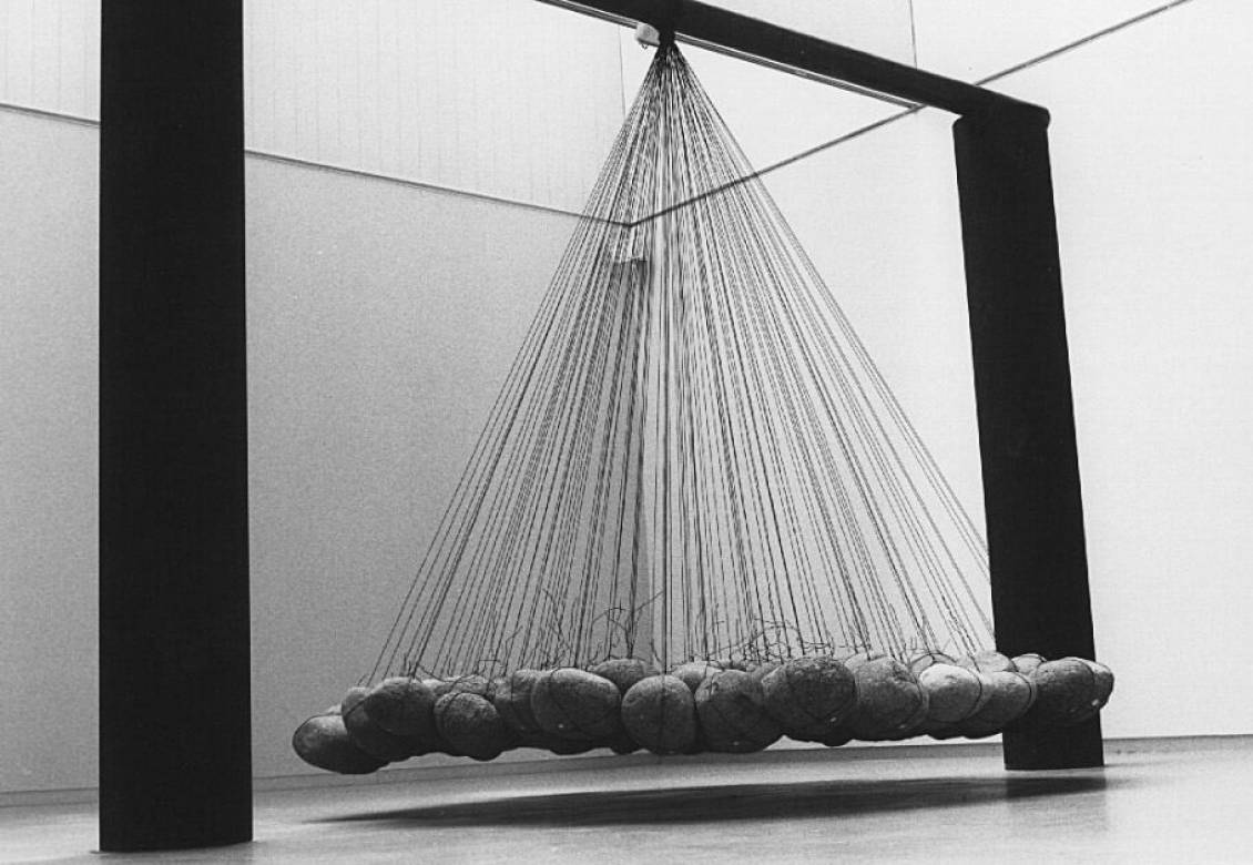 Ken Unsworth, Suspended Stone Piece, 1971-75