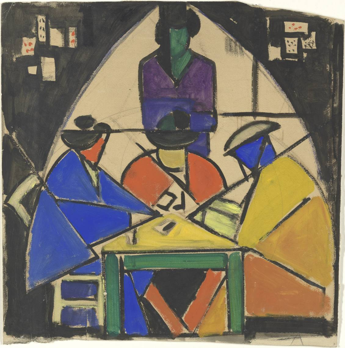 Theo van Doesburg, Study for the card players, 1916