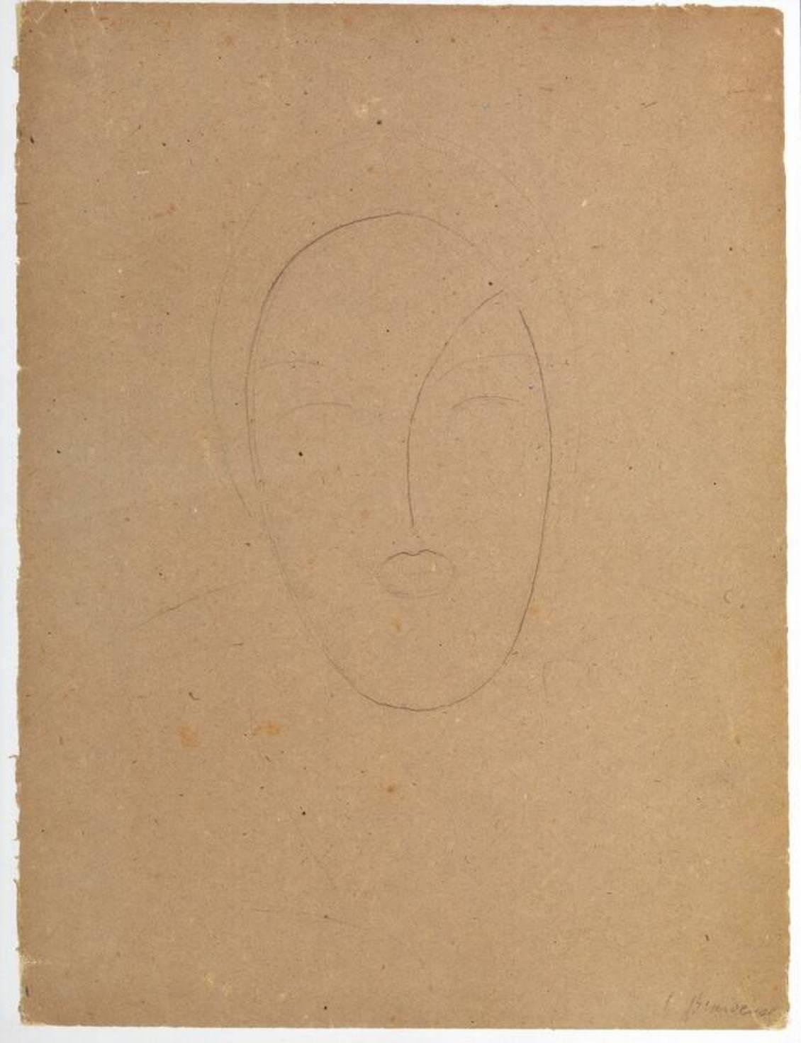 Constantin Brancusi, Head of a woman, circa 1909-1920