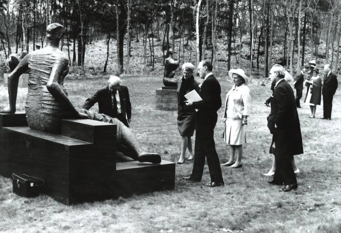 Opening tentoonstelling Henry Moore, 1968
