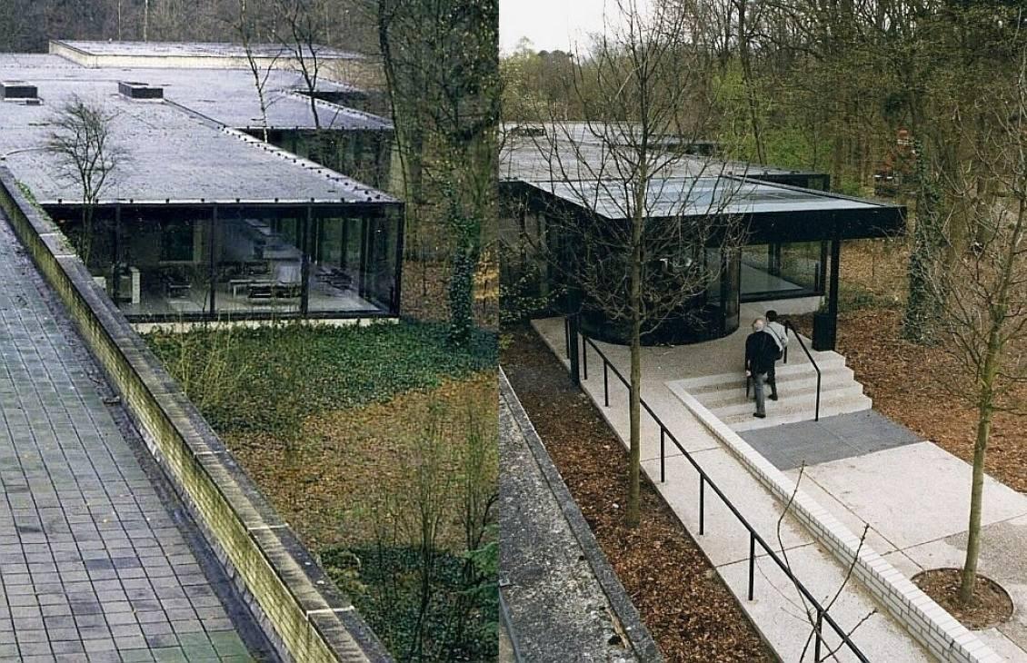 Nieuwe ingang beeldentuin naar ontwerp van Wim Quist, 1999
