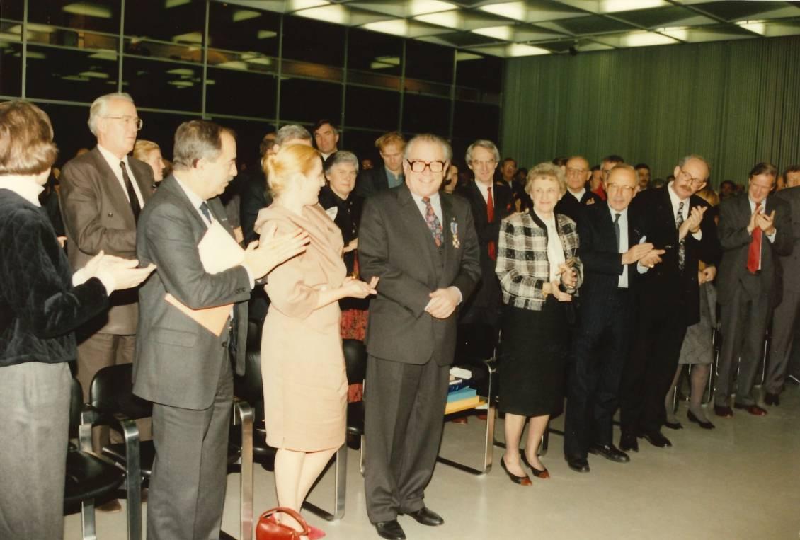 Farewell celebration Oxenaar, 1st of December 1990
