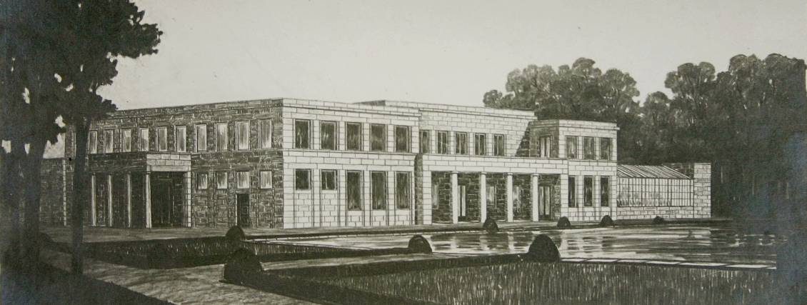 Peter Behrens, Design for the Ellenwoude estate in Wassenaar, circa 1912