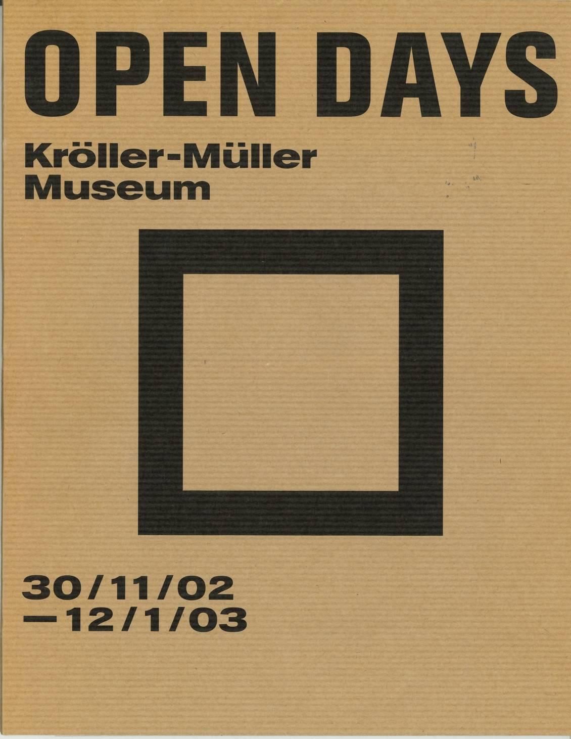 ROMA Publications, Open days; Kröller-Müller Museum, 2002