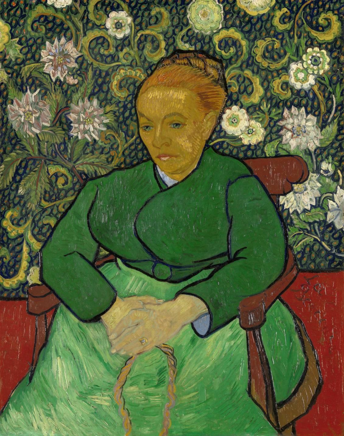 Vincent van Gogh, La Berceuse (portret van Madame Roulin), december 1888 - januari 1889