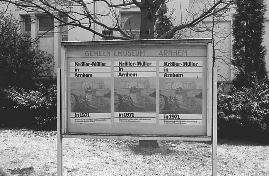 Rijksmuseum Kröller-Müller, guests in Arnhem, 1971