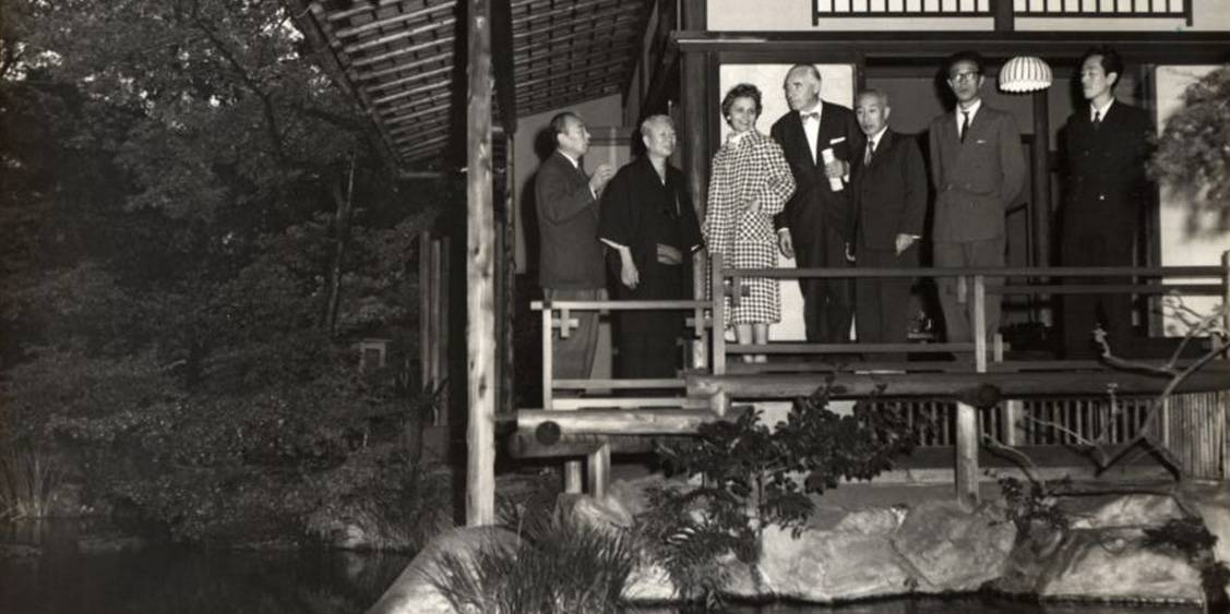 Visit to Japan to accompany a major loan exhibition of Van Gogh, 1959
