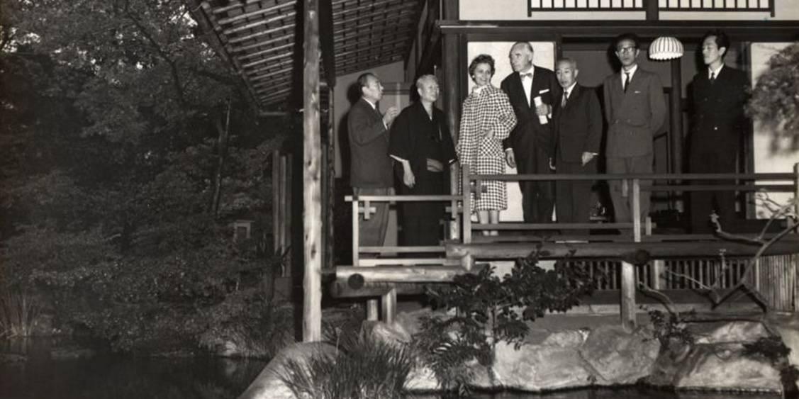 Bezoek aan Japan vanwege een bruikleententoonstelling, 1959