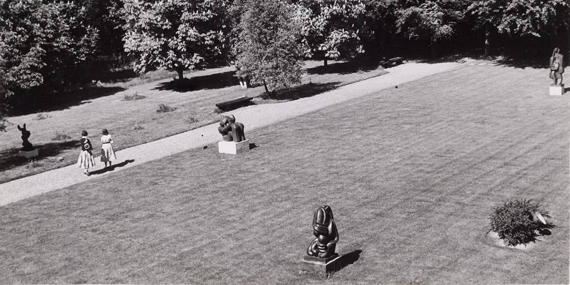 Tentoonstellingsoverzicht Jacques Lipchitz, 116 beeldhouwwerken, 1958