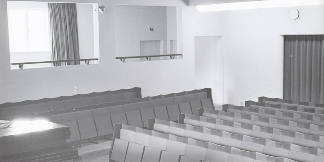 De aula naar ontwerp van Henry van de Velde, 1954
