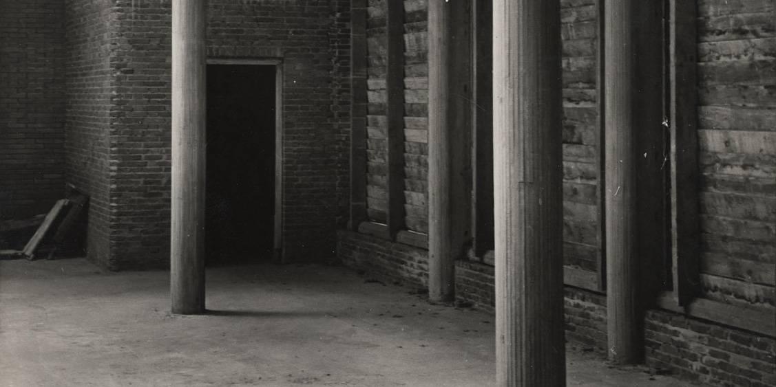Sculpture gallery under construction, 1952