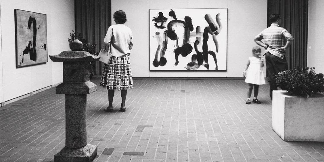 Exhibition 'Tradition and innovation in Japanese art', 1959
