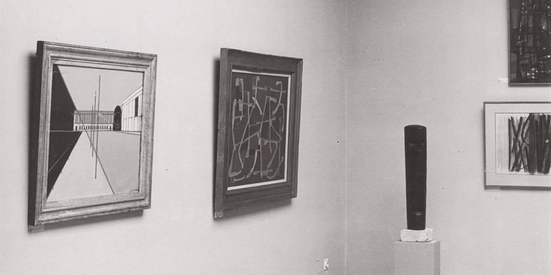 Tentoonstellingsoverzicht collectie Van Geluwe, 1956
