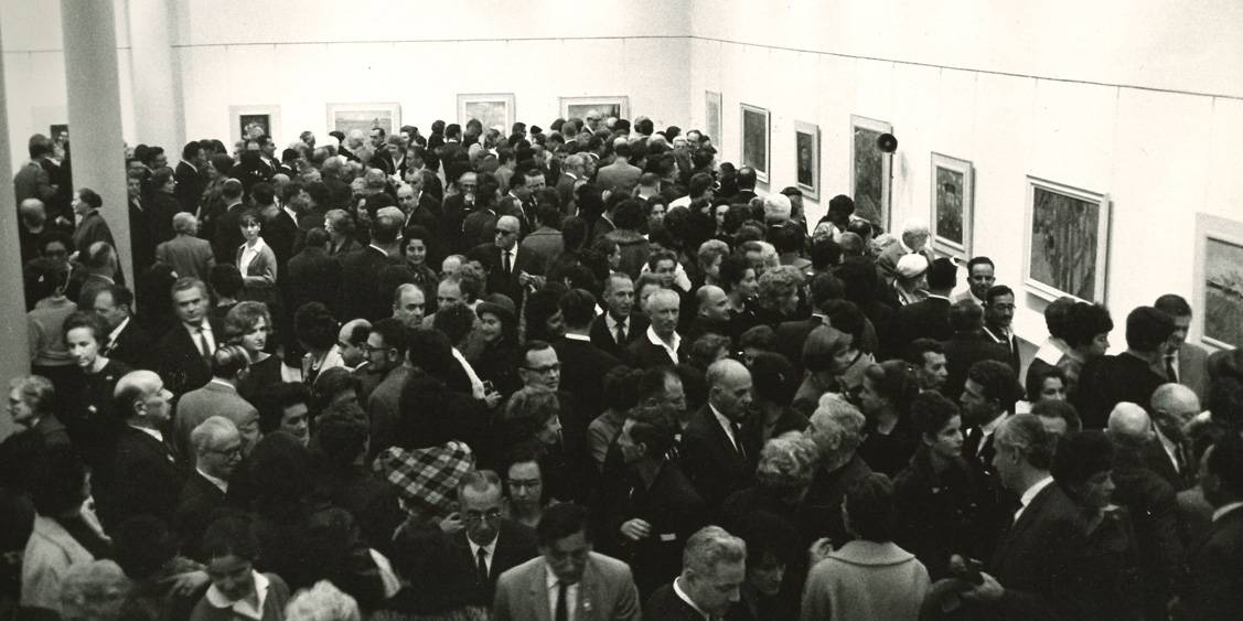 Van Gogh in Israël, Visitors at the opening in Tel Aviv, 1963