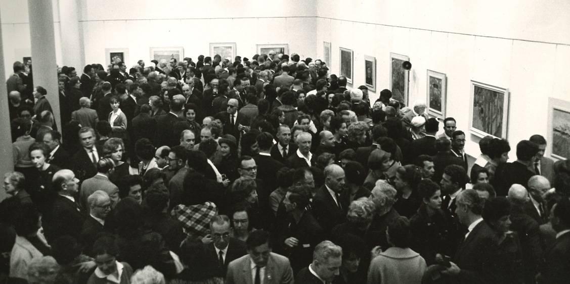 Van Gogh in Israël, Bezoekers opening Tel Aviv, 1963