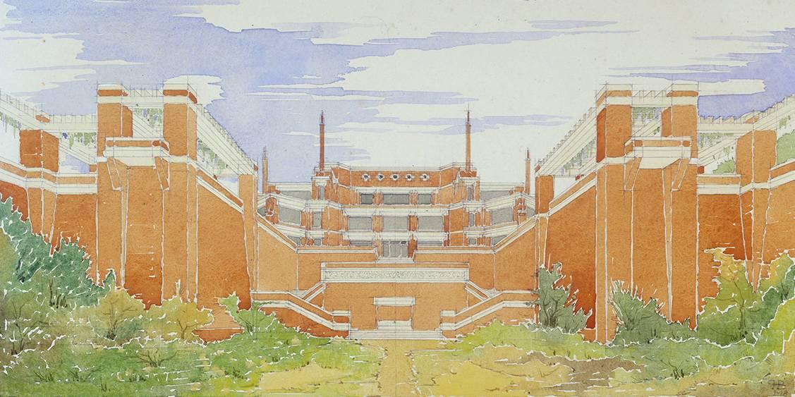 H.P. Berlage, ontwerp voor Museum Hoenderloo, 1918