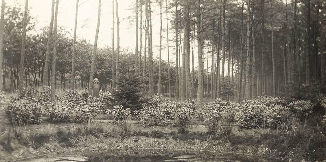 Koperen kop van John Rädecker bij de Kolk, 1924