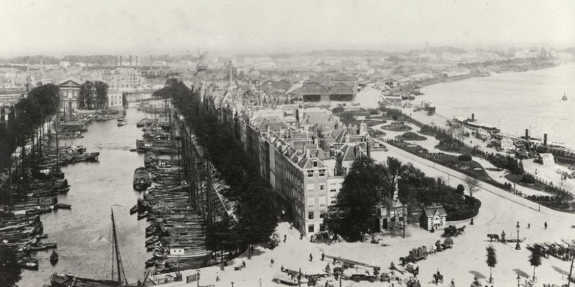 Haringvliet Rotterdam, rond 1900