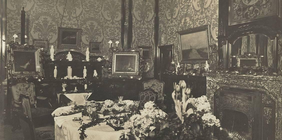 Eetkamer van Huize ten Vijver, 1915