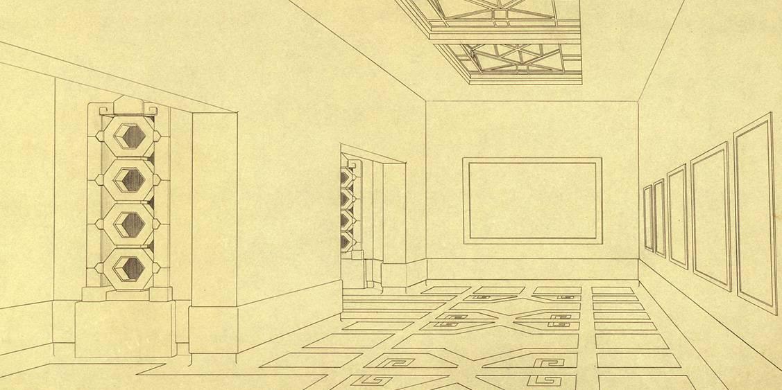 Henry van de Velde, ontwerp voor het 'groote museum', interieurtekening