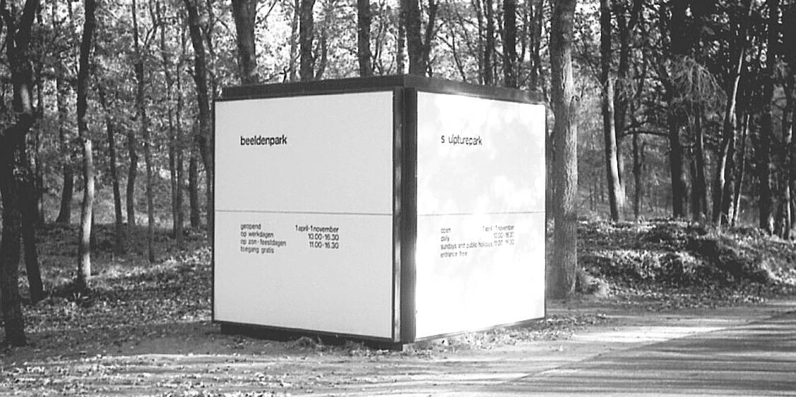 Temporary entrance to the Sculpture garden designed by Kho Liang Ie, 1971