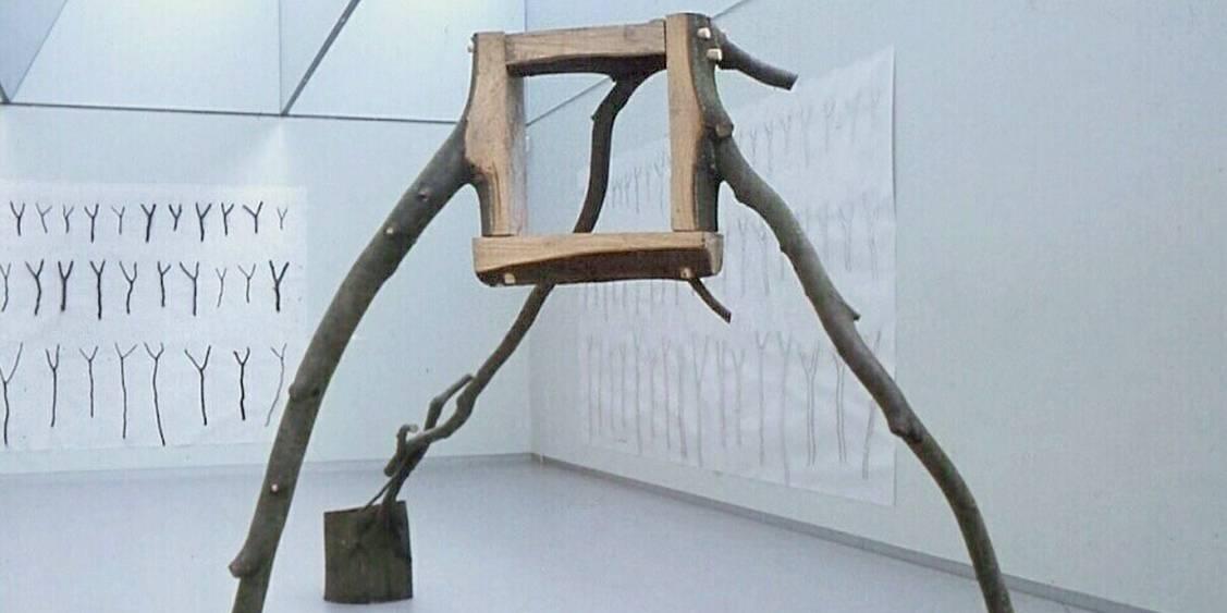 Tentoonstelling David Nash, 1982