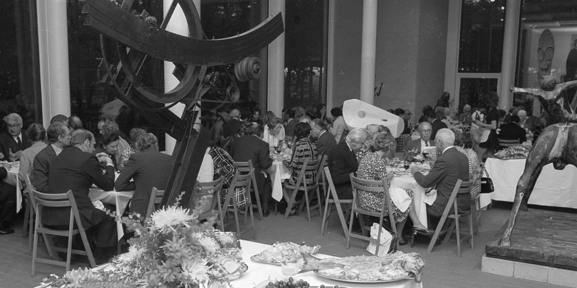 Opening Jardin d'émail van Jean Dubuffet, 3 mei 1974