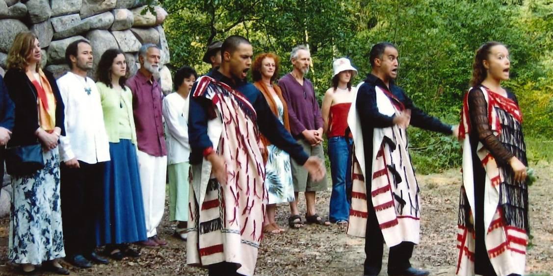 Opening 'Echo van de Veluwe' Chris Booth met Maori ceremonie, 2005