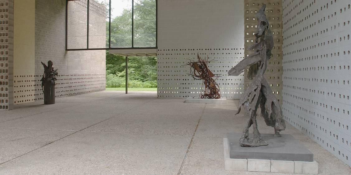 Tentoonstellingsoverzicht 'Pearl Perlmuter binnen/buiten', Rietveldpaviloen 2003