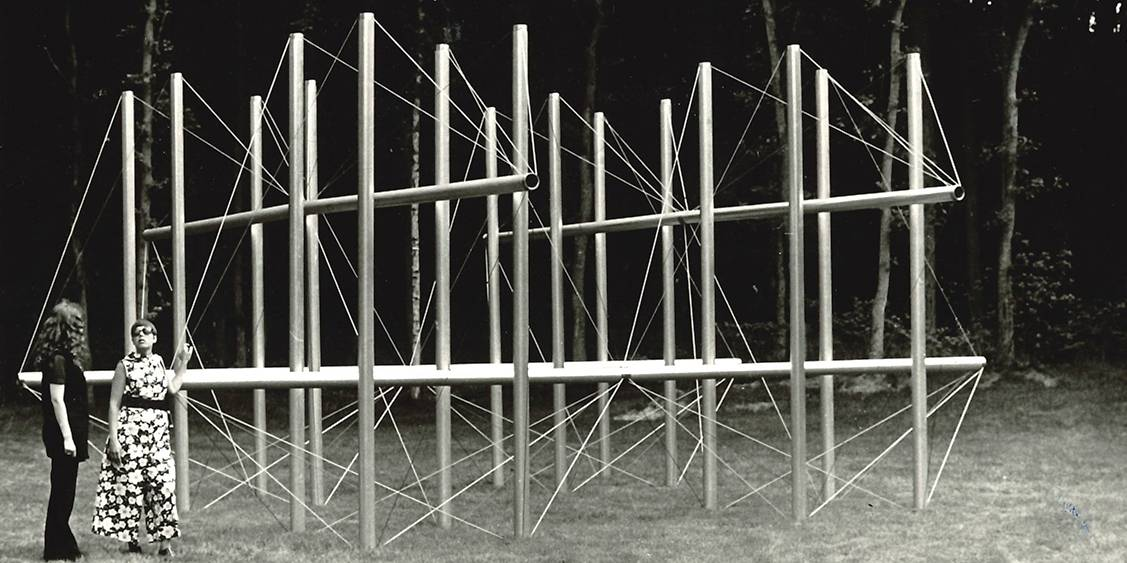 Tentoonstelling Kenneth Snelson, 1969