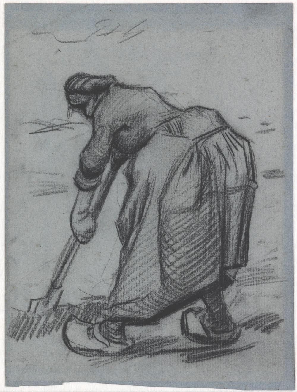 Vincent van Gogh, Woman digging, 1885